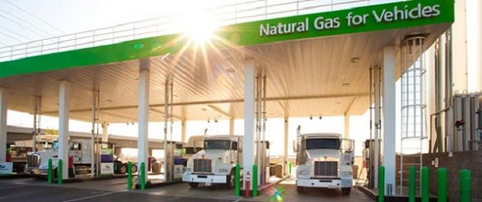 Clean Energy Fuels natural gas refueling station.