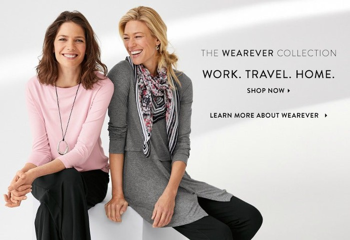 Two women wearing clothes from J. Jill.