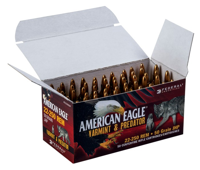 Open box of Federal Premium ammunition