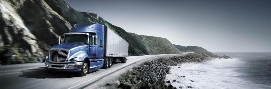 a long haul Navistar truck