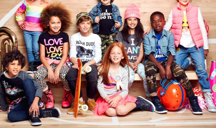Kids wearing The Children's Place clothes