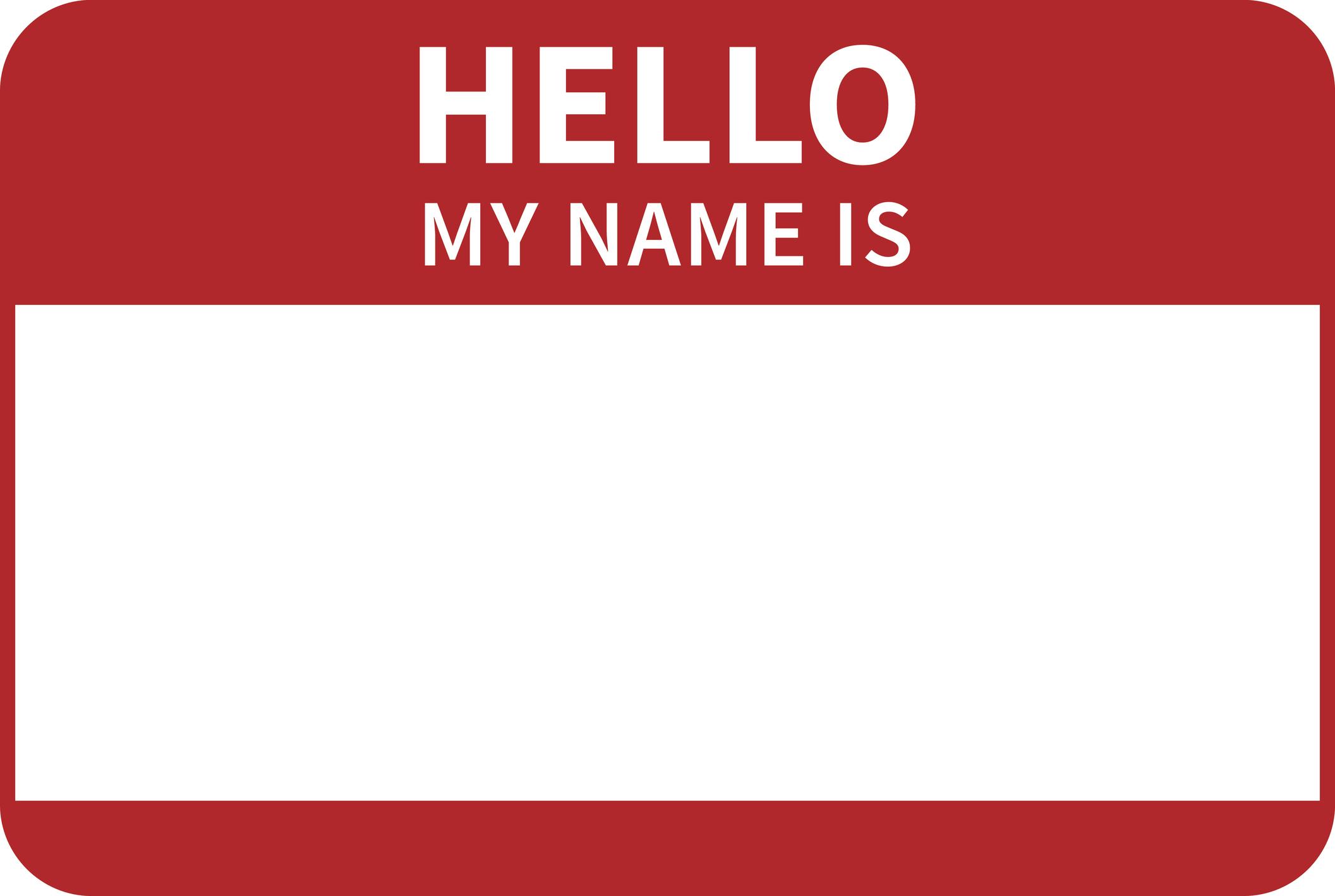 Nametag.