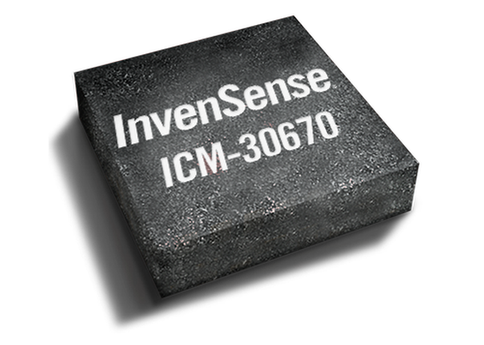 A rendering of an InvenSense-built chip.