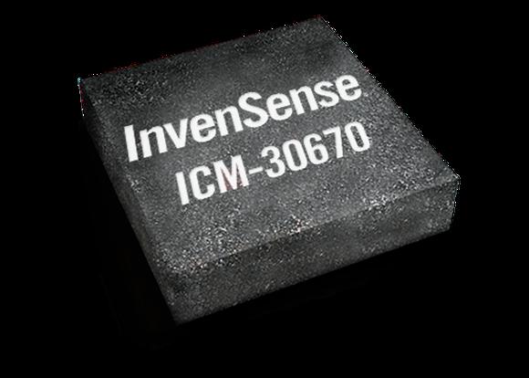 A rendering of an InvenSense-built chip.