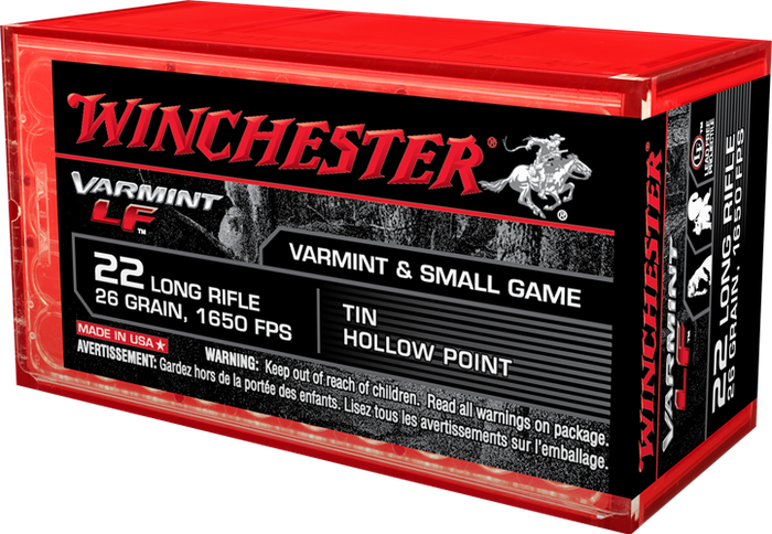 A box of Winchester .22 ammunition