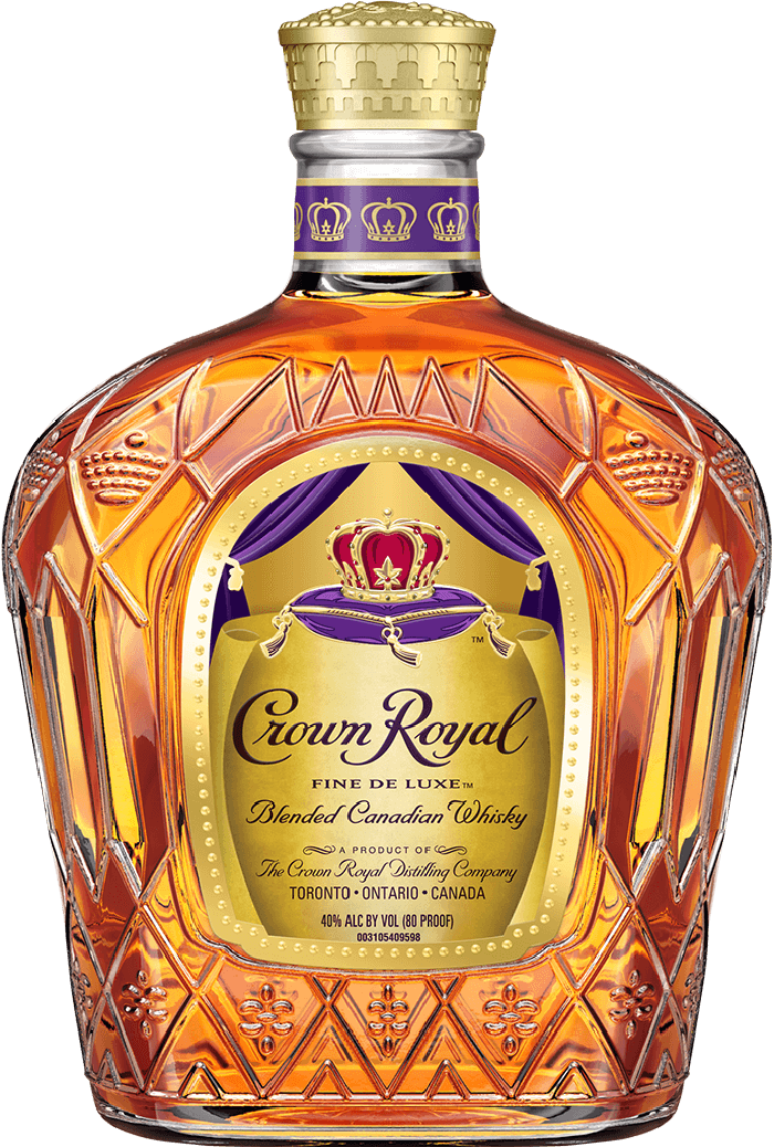 Bottle of Diego's premium Crown Royal whiskey