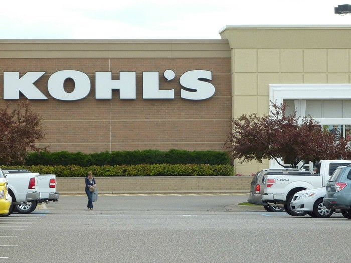 The view of a Kohl's store from a parking lot