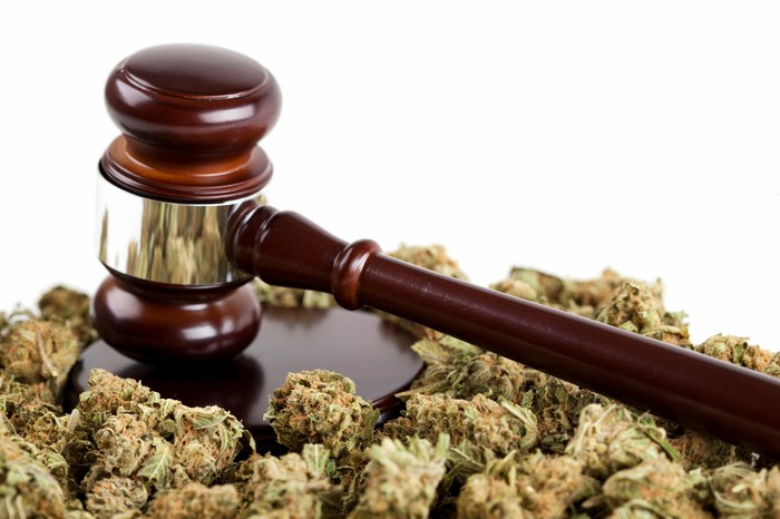 Marijuana and a judge's gavel