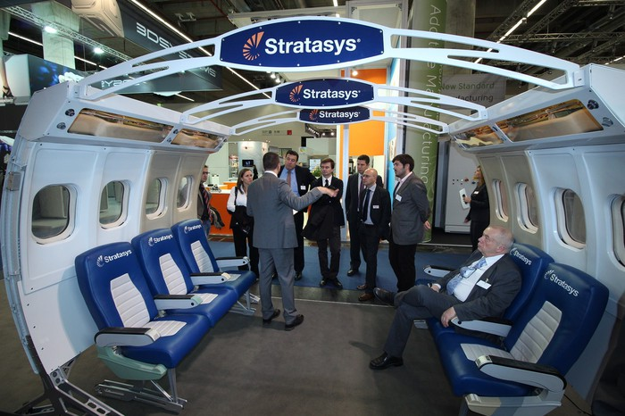 Conference display from Stratasys.