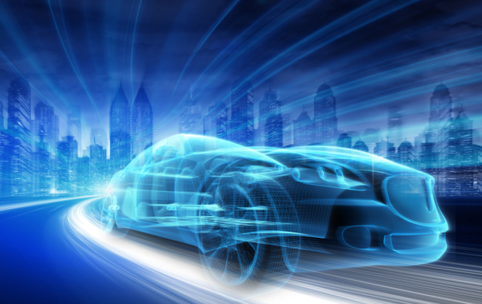 An abstract image of a connected vehicle