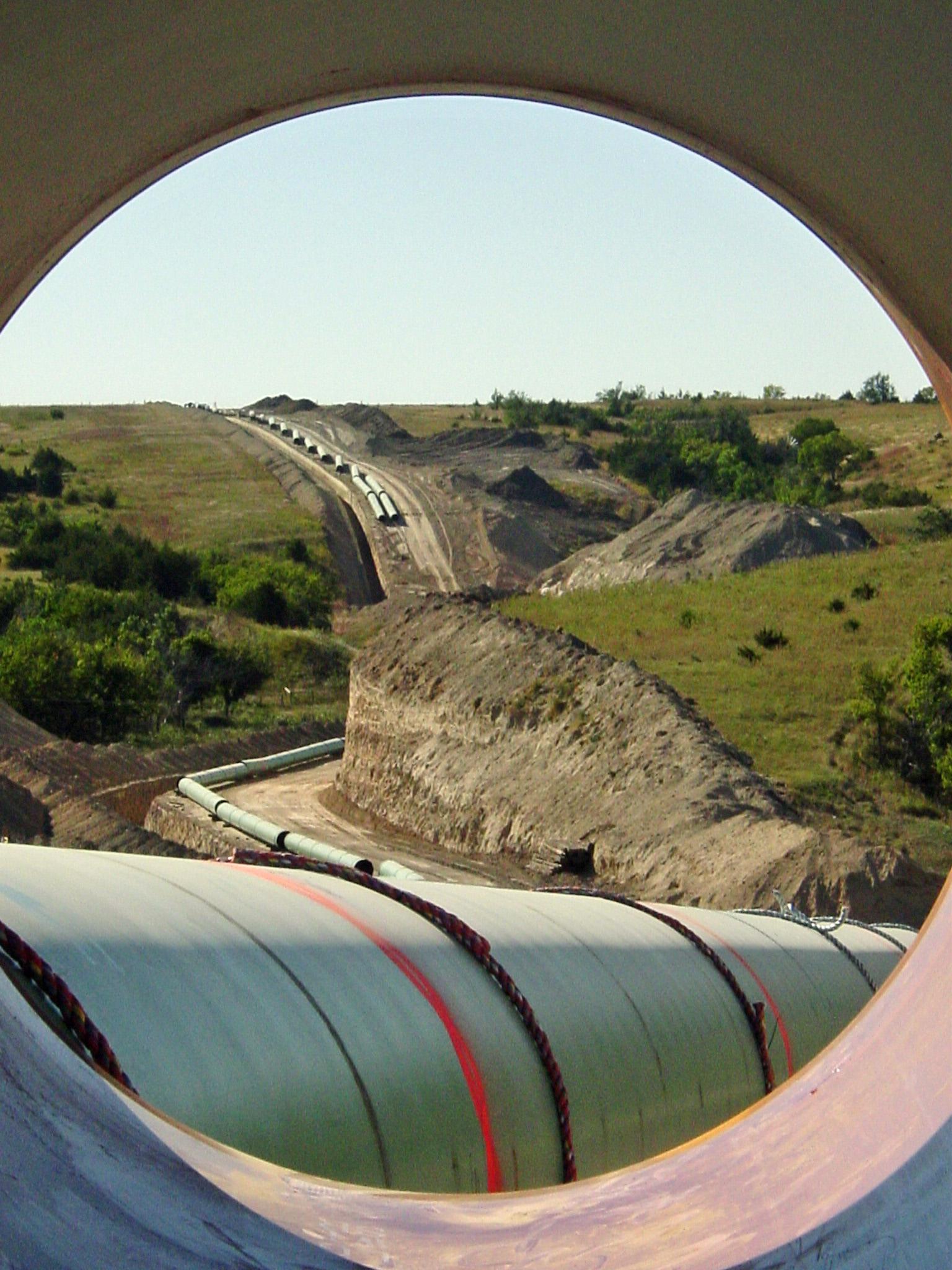 A view through a pipeline.