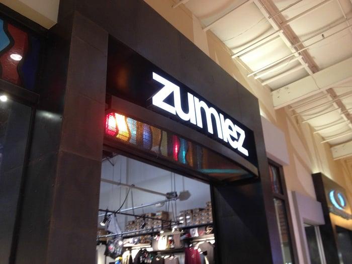 A Zumiez store inside a mall