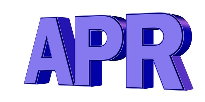 The letters APR in purple