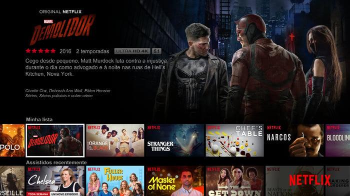 Marvel's Daredevil screenshot displayed in Portuguese.