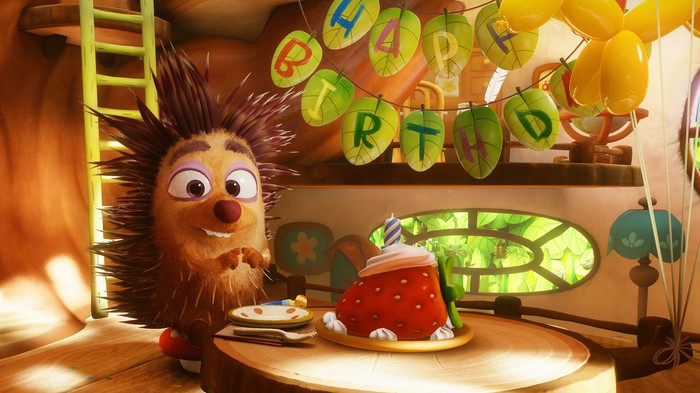 A picture of Henry, the animated hedgehog created by Oculus Story Studio.