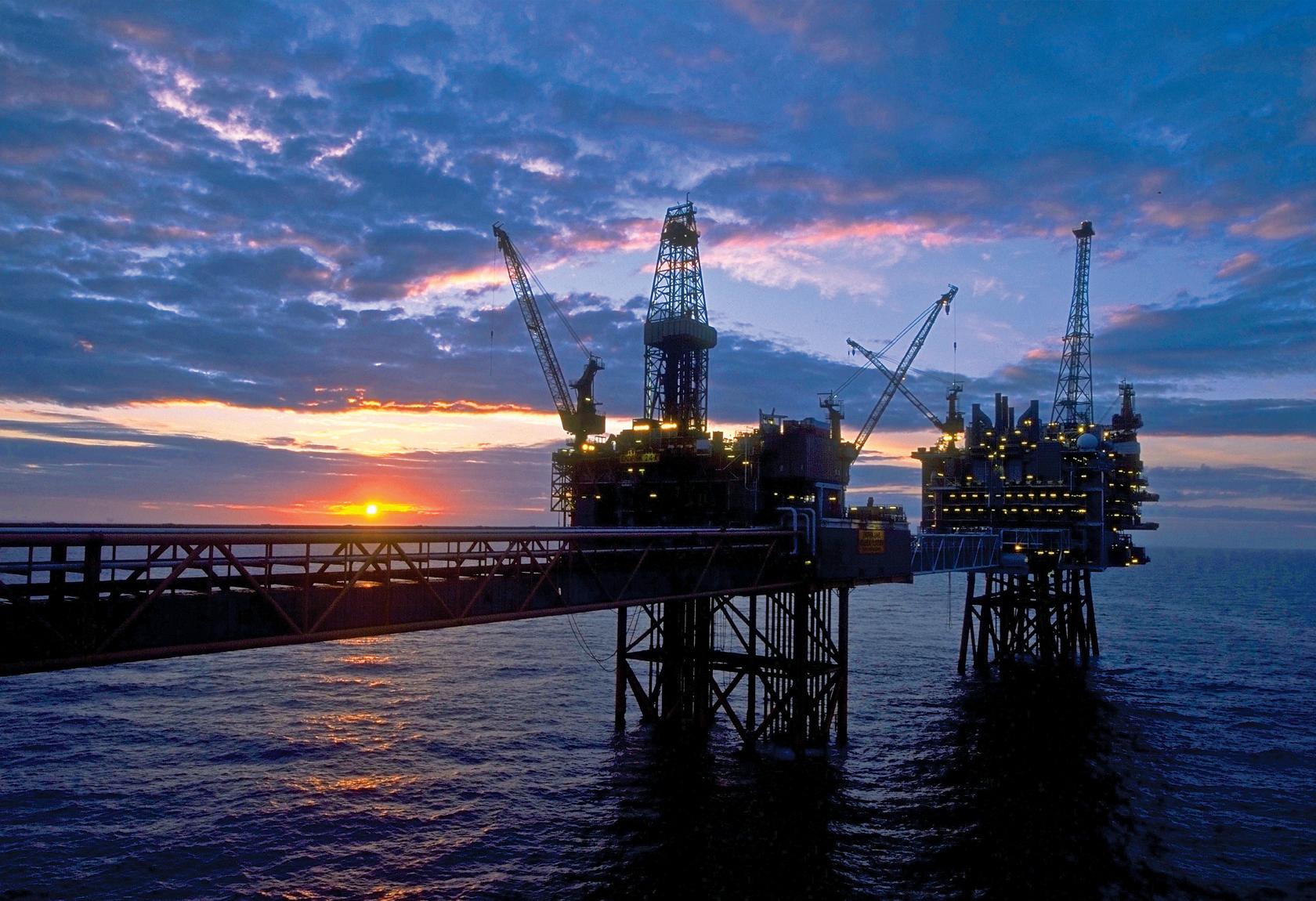ConocoPhillips oil rig in the North Sea.