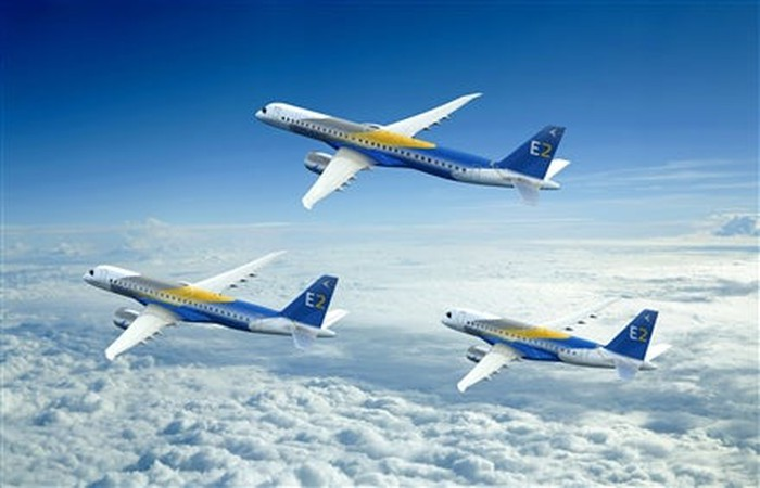 A rendering of all the E2-series jet models