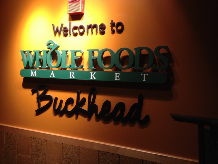A Whole Foods sign from an Atlanta store