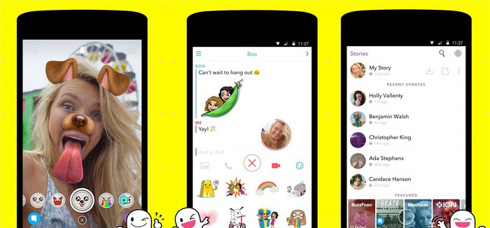 Snap's Android app.
