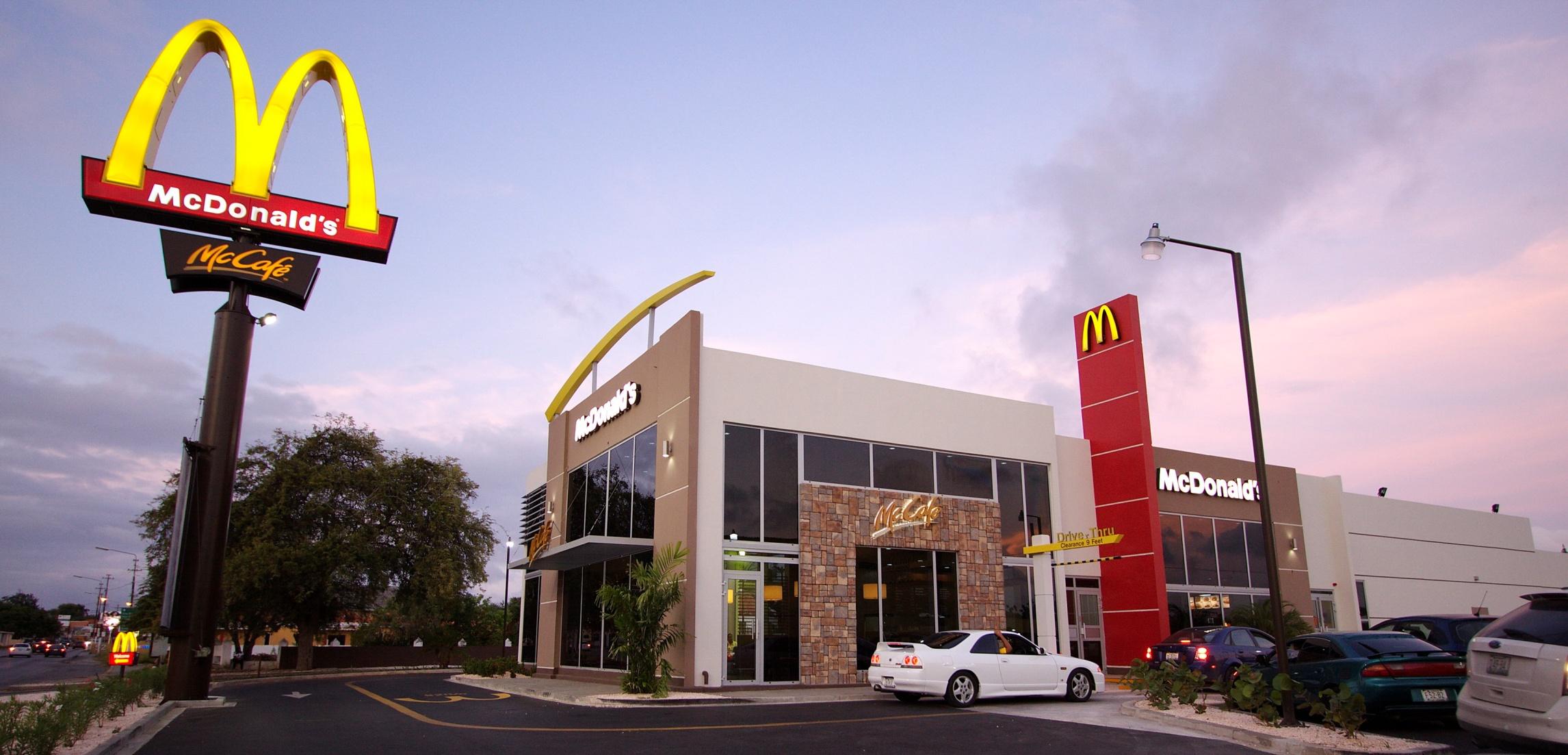 Curaçao McDonald's restaurant exterior.
