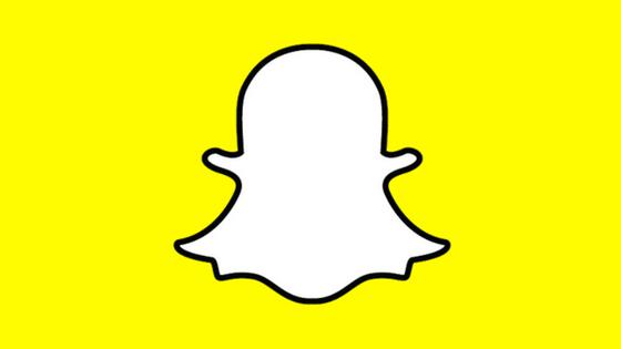 Snapchat logo on yellow background