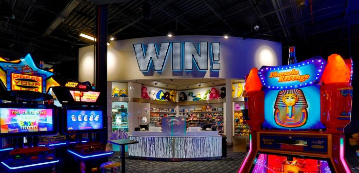 Like a Chuck E. Cheese for adults, Dave & Busters is about the arcade experience
