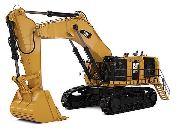 Caterpillar hydraulic mining shovel
