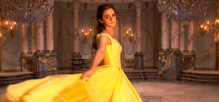 "Actress Emma Watson as Belle in Disney's live-action ""Beauty and the Beast."""