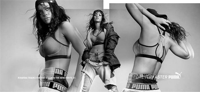 A 2015 Puma ad campaign featuring Rihanna.