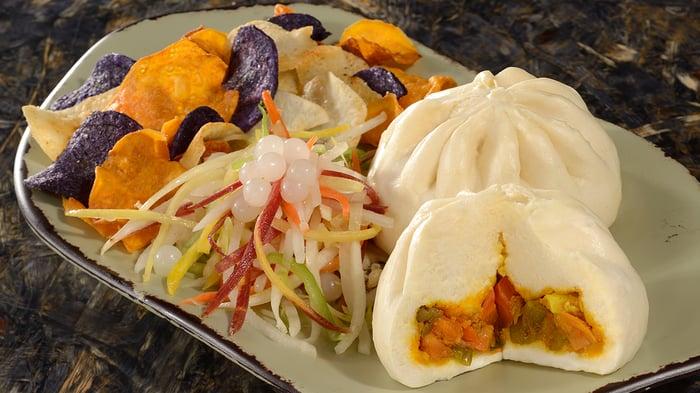 A vegetable curry steamed bun at Disney's Animal Kingdom.