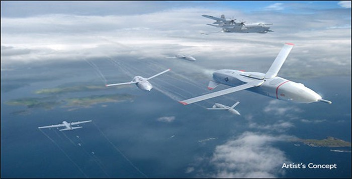 Artist's concept of C-130 deploying Gremlins drones.