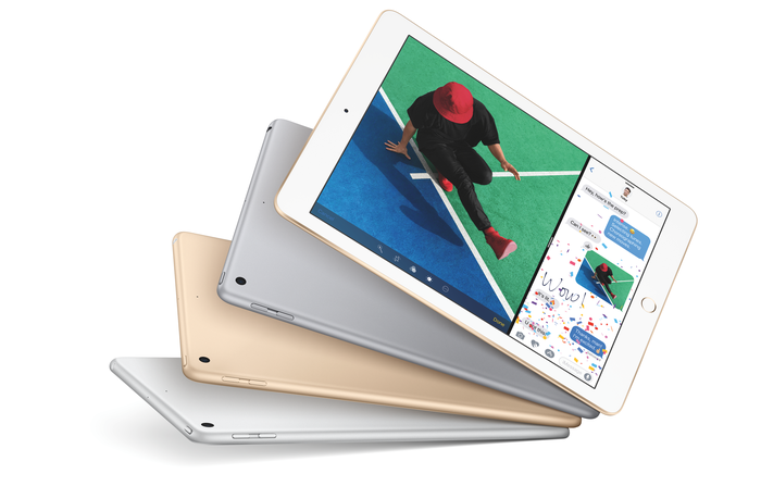 Four of the new 9.7-inch iPads