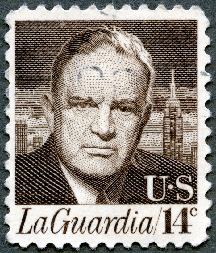 LaGuardia stamp.