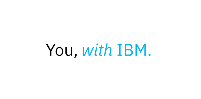 """You, with IBM"" logo"