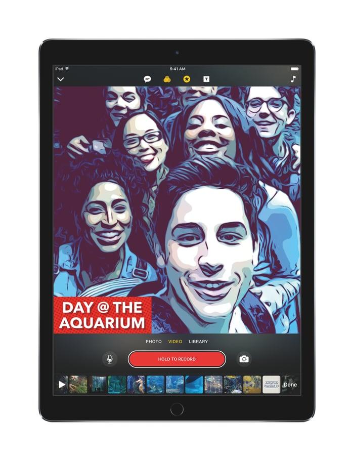 Apple Clips app on iPad