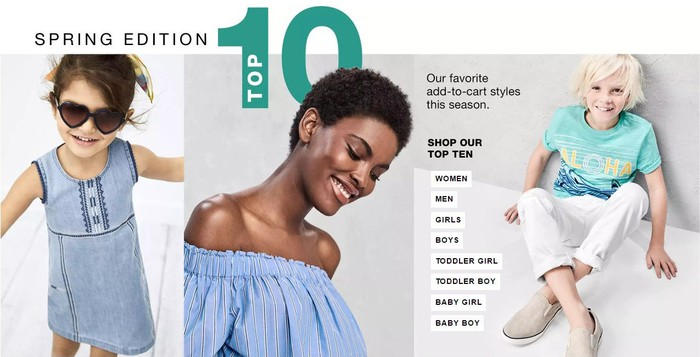 A promo for Gap's spring lineup.