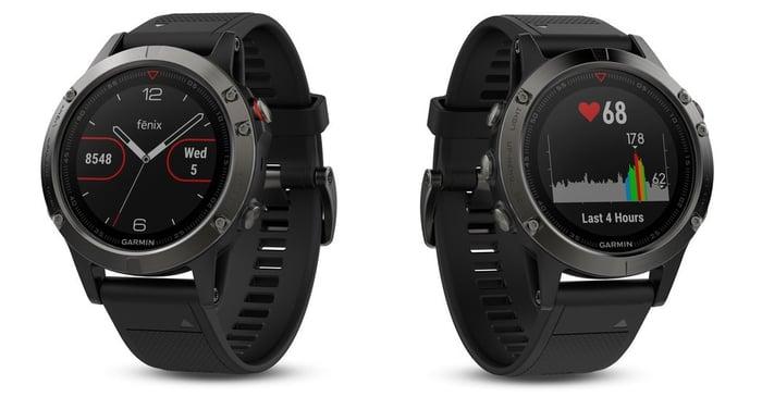 Garmin's Fenix 5 GPS watches.