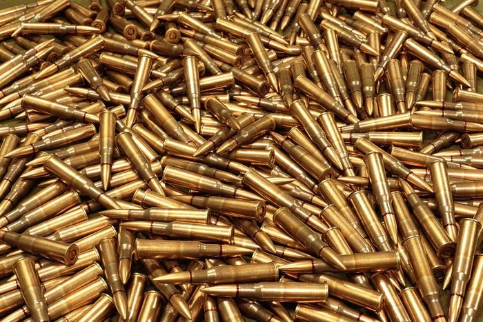Pile of ammunition