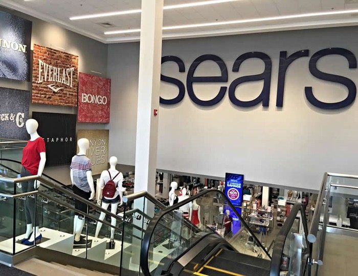 Entrance to Sears store in Danbury, Conn.