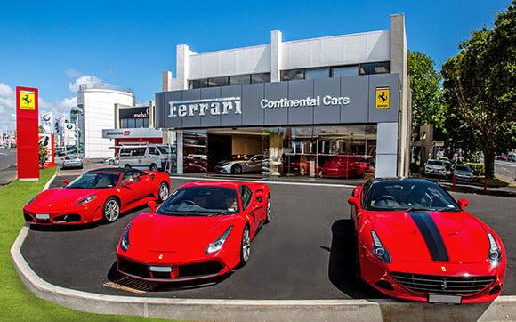 Ferrari dealership.