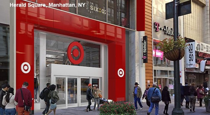 A rendering of the 34th St. entrance to the new Target store