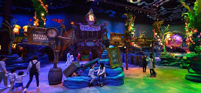A show is about to start at DisneySea's Mermaid Lagoon Theater.