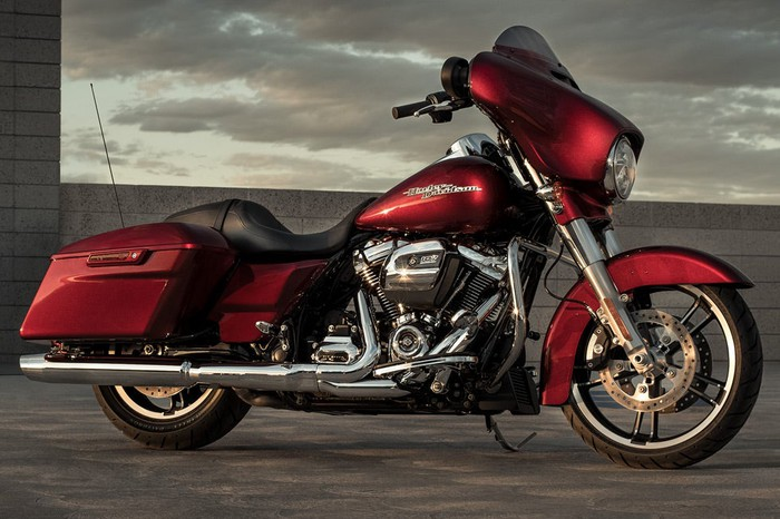 Red motorcycle.