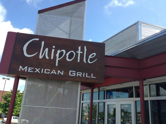 A sign outside a Chipotle restaurant