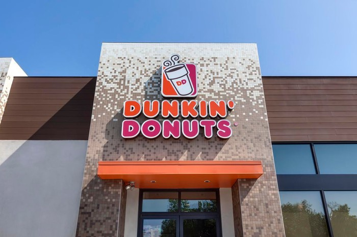 Exterior of Dunkin' Donuts location.