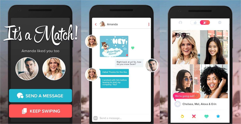 Tinder's mobile app.