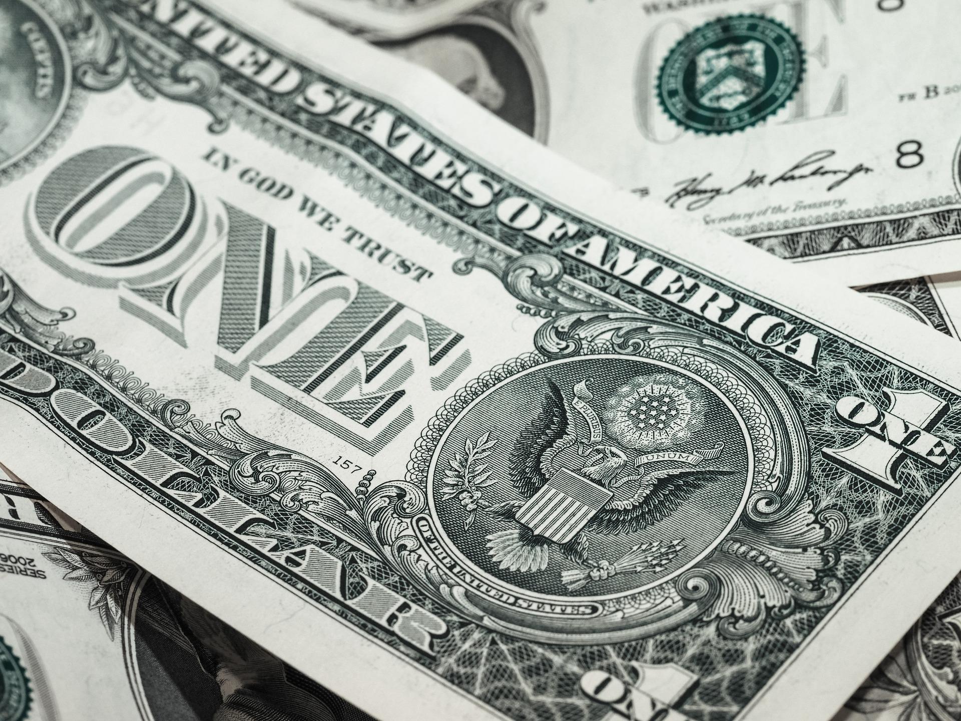 A dollar bill