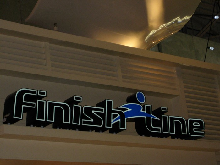 A Finish Line store in a mall