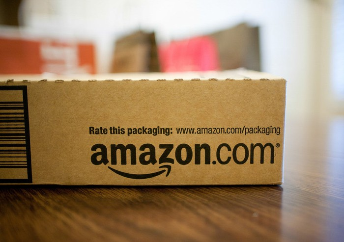 An Amazon delivery box