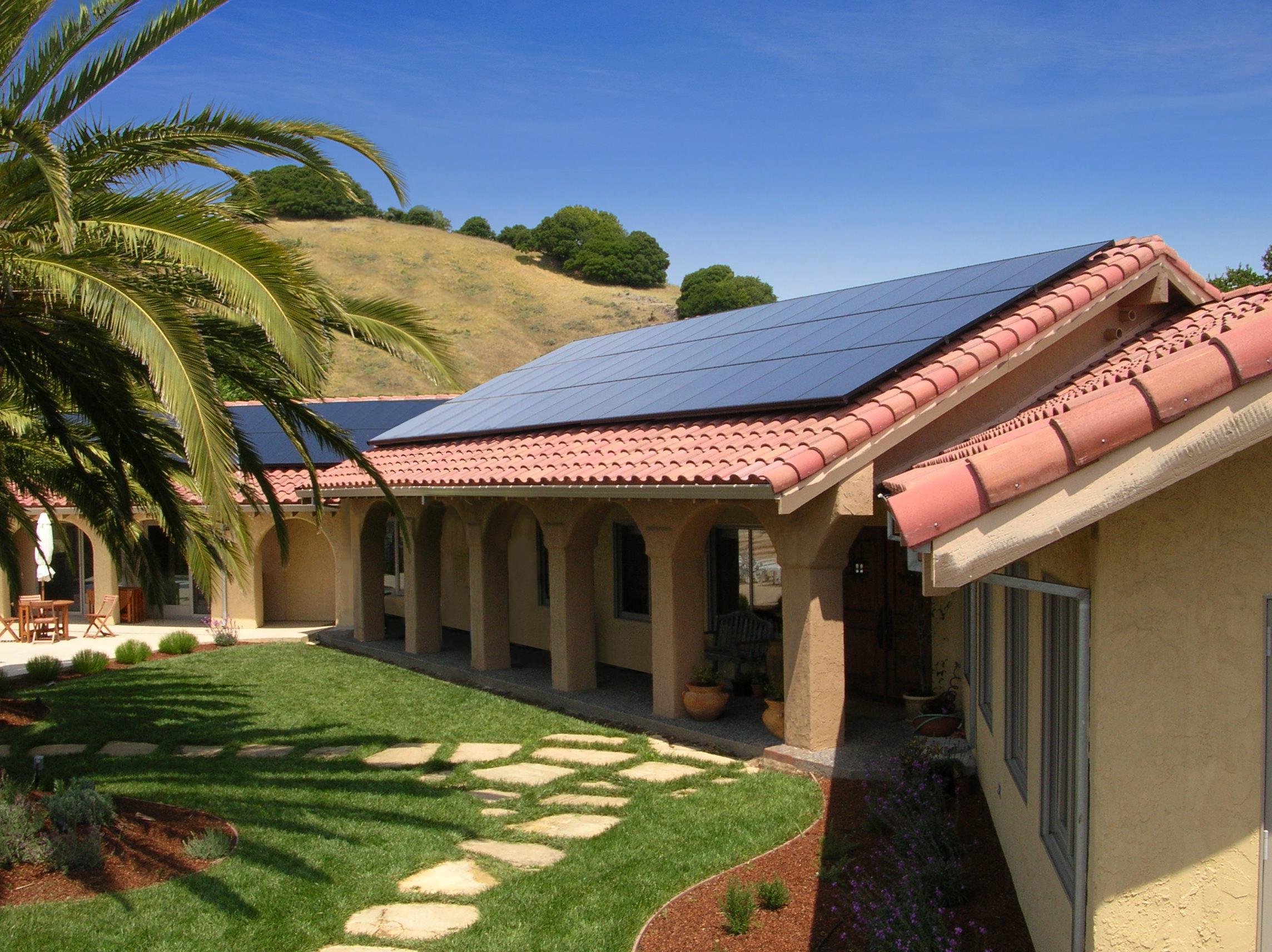 A residential solar installation by SunPower.